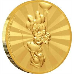Mickey And Friends Minnie Mouse Carnival 1/4 Oz Gold Coin 25 Niue 25 Dollars 2019