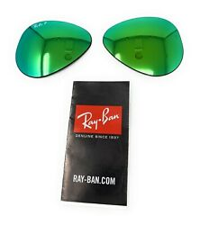 New Authentic RAYBAN Sunglass Lens Replacements RB3025 POLARIZED Green Mirror 58