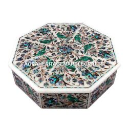7x7x2 Exclusive Marble Jewelry Box Intregrate Inlaid Thanks Giving Gift M092