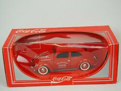 Rare Coca-cola 1979 Red Volkswagen Beetle Die Cast Car Hartoy Made In France