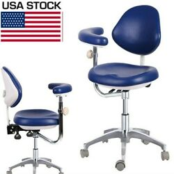 Dental Medical Mobile Chair Doctor's Chair Adjustable Dentist Chair Navy Blue Us
