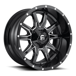 4 20x10 Fuel Gloss Black And Mill Vandal Wheel 5x114.3 5x127 For Jeep Toyota Gm