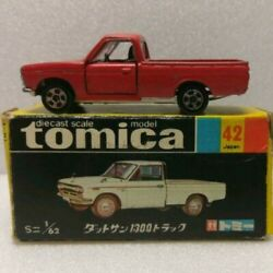 Tomica No 42 Datsun 1300 Pick Up Red Truck Made In Hong Kong 1/62 Black Box F/s