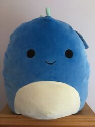 Squishmallow Blue Dino Brody 16 Pillow Squooshems Kelly Toy New