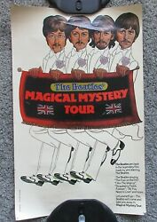 Vintage 1974 Beatles Magical Mystery Tour Bus Poster 11 X 18 Mystical Rauch