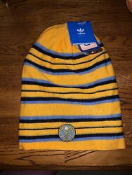 Nba Adidas Denver Nuggets Reversible Striped And Sold Color Tall Beanie