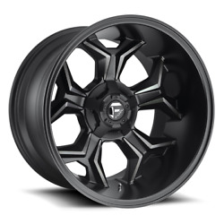 4 20x10 Fuel Black And Machined Avenger Wheels 5x139.7 5x150 For Jeep Toyota Gm