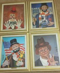 All 4 Series 7 230 Red Skelton Oils On Canvas Lithographs Signed With Coas