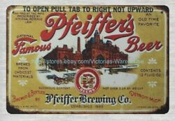 Pfeiffer's Beer Brewing Company Pfeiffer's Beer Metal Tin Sign Plaques Sale