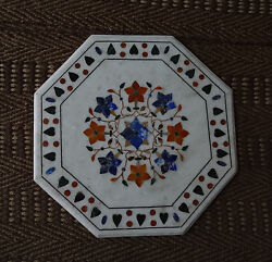 24 Marble Marquetry Coffee Center Table Top Rare Handmade Mosaic Occasion Gift