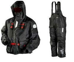 Frabill I-float Jacket And Bib Ice Fishing Suit Black Med Msrp 600 Pant And Parka