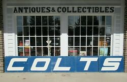 Vintage Game Used Baltimore Colts Cheerleader Signs 5 Colts Aluminum 1970's