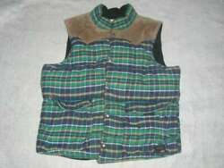 Denim And Supply / R.l. Suede York Best Green Check X Camel Old Stock Menand039s Xl