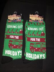 Christmas Vacation Clark Griswold 2 Pair Of Socks. Brand New. Adult Size 6-12.