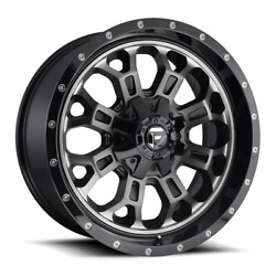 4 20x10 Fuel Black W/ Tint Crush Wheels 5x139.7and5x150 For Ford Jeep Toyota Gm