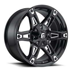 4 20x9 Fuel Black And Milled Dakar Wheels 5x139.7 And 5x150 For Ford Jeep Gm