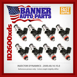 Set Of 8 Injector Dynamics 2600.48.14.15.8 For Gm Ls2 Engines