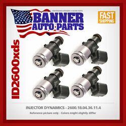 Set Of 4 Injector Dynamics 2600.18.04.36.11.4 For Scion Fr-s And Subaru Brz