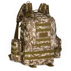 50l Tactical Backpack Military Molle Rucksack Gear Assault Bags Hunting Camping