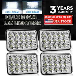 4x Dot Approved 4x6 300w Led Headlights Drl For Peterbilt Kenworth Freightliner