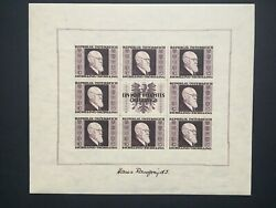Austria Dr.karl Renner 4 Sheets With 8 Stamps Each. Scottb185/88, Ank780-783 A