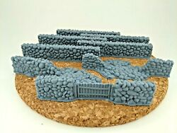 28mm scale stone wall set bulk 8 walls included wargaming scatter terrain