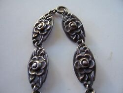 Vintage Rare 1940and039s Sterling Necklace Signed And Co Makers