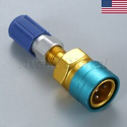 US STOCK Low Side R1234yf to R-134a Service Quick Coupler With R12 Adapter Blue