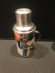 Vintage Collectible Aluminum Thermos Bottle Young Teenager Birthday Party Design