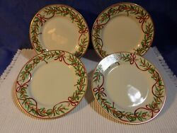 Set Of 4 Macyand039s Royal Gallery Queensberry Bread And Butter Plates - Mint