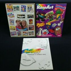 Three Rose Art Toy Fair Catalogs From 1992, 1994 And 1995