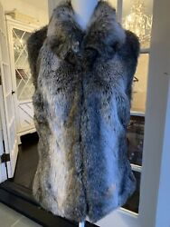 SURELL Womens Faux Fur Mink Vest Lined Size SM Never Worn