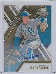 Griffin Canning 2017 Elite Extra Status Gold Auto Rc 'd 1/1 Rare Angels Rookie