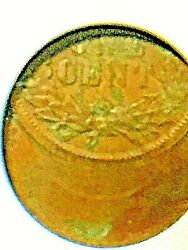 Anacs Au55 Indian Head Penny Off Center 50 Wow