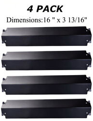 Gas Grill 4 Heat Plates Shield Porcelain Steel Bbq Parts Charbroil Kenmore Therm