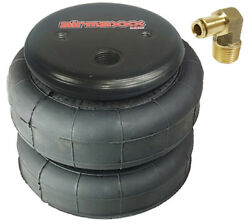 1 Air Bag 2500 With 1/4 Hose Elbow For Air Ride Suspension Car Truck Tow Kit
