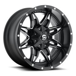 4 20x10 Fuel Black And Mill Lethal Wheels 5x139.7 5x150 For Ford Jeep Gm Toyota