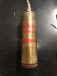 Vintage General Quick-aid Fire Guard Brass Fire Extinguisher With Bracket/holder