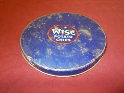 Vintage Wise Potato Chips Tin Can Lid Only Advertizing Sign