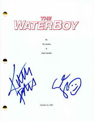 Adam Sandler And Kathy Bates Cast Signed Autograph Full Movie Script -the Waterboy
