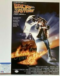 Michael J Fox Signed Back To The Future 12x18 Poster Photo Exact Proof And Psa/dna