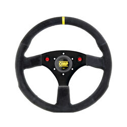 Omp Alu Suede Steering Wheel With Horn - Size Universal