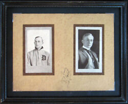 1909 Ty Cobb Early Career Signed Autographed Photo Booklet With Jsa Coa Framed