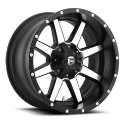 4 20x10 Fuel Black And Machined Maverick Wheel 5x139.7 5x150 For Ford Jeep Gm