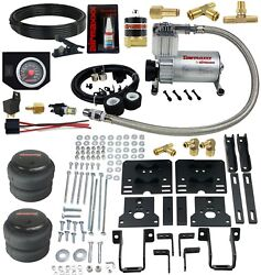 Air Helper Spring In Cab Blk Gauge Over Load Level Kit For 2005-10 Ford F250 4x4