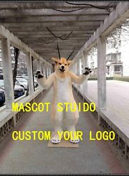 Wolf Mascot Costume Cosplay Party Fancy Dress Outfit Advertising Adults Parade #