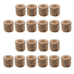 20PCS Tree Branch Stump Tea Light Holder Tealight Candle Holders Table Decor