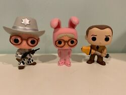 Funko Pop A Christmas Story Lot Of 3 Ralphie Dad With Lamp