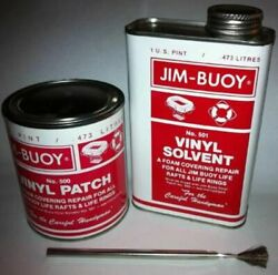 Cal-june 500 Vinyl Rapair Kit W/patch Solvent And Brush For Jim-buoy Life Float Md