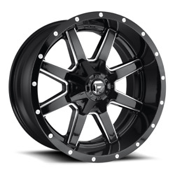 4 22x10 Fuel Gloss Black Maverick Wheel 5x139.7 5x150 For Ford Jeep Gm